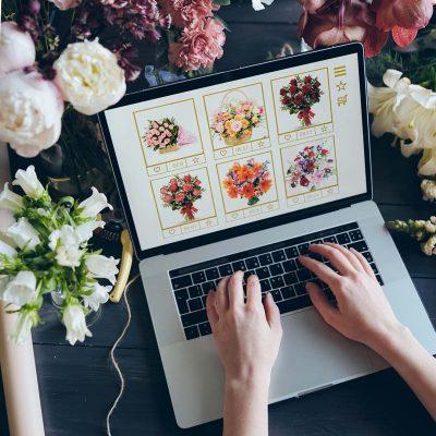 florista con su web